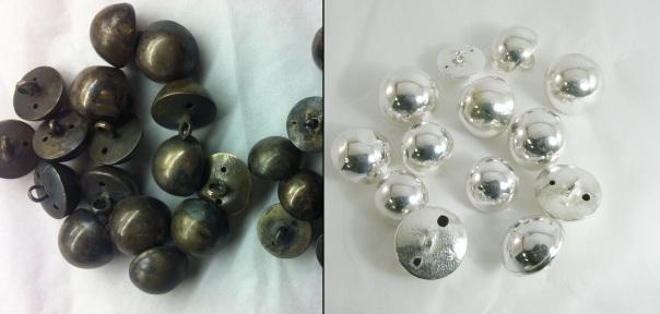 Sølvpuss for og etter